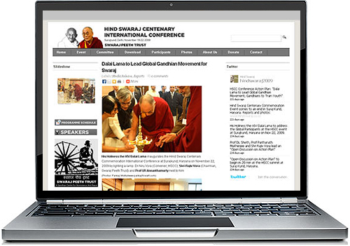Homepage of Hind Swaraj Centenary International Conference